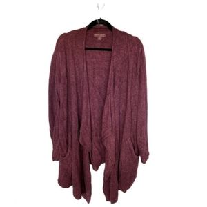 Barefoot Dreams Long Line Open Cardigan Size Small.